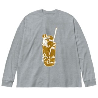 break time boy Big silhouette long sleeve T-shirts