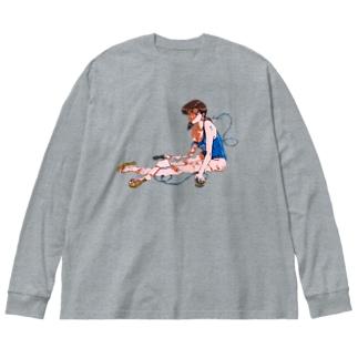 夏の終わりの Big Silhouette Long Sleeve T-Shirt