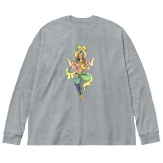 阿修羅さん(素手) Big Silhouette Long Sleeve T-Shirt