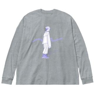 かりあげくん Big silhouette long sleeve T-shirts