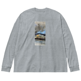 マルセイユ 夜景 Big silhouette long sleeve T-shirts