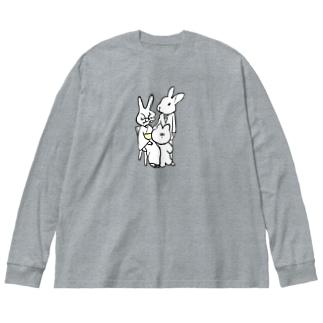 iminonaimojiの家族写真 Big silhouette long sleeve T-shirts