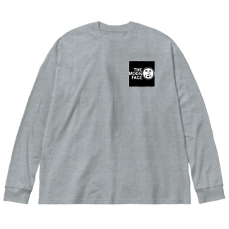 THE MOON FACE Big silhouette long sleeve T-shirts