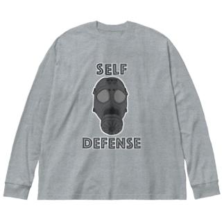 SELF DEFENSE Big silhouette long sleeve T-shirts