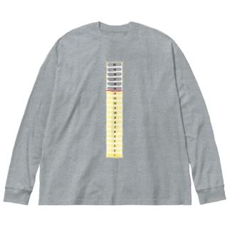 いれてあげてよ〜 Big silhouette long sleeve T-shirts