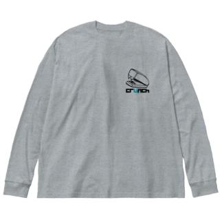 ホッチキス Big silhouette long sleeve T-shirts