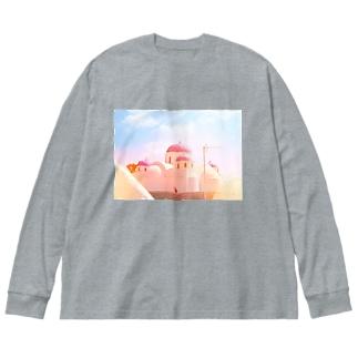 サントリーーニ Big silhouette long sleeve T-shirts