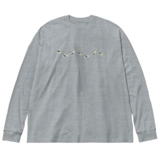 オニボラちゃん(なみなみ) Big silhouette long sleeve T-shirts