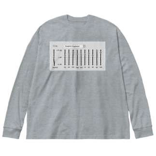 TuneBsideのイコライザ Big silhouette long sleeve T-shirts