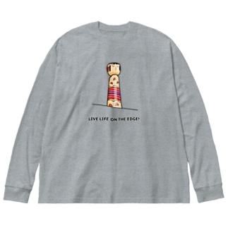 KOKESHI-nglish : LIVE LIFE ON THE EDGE! Big silhouette long sleeve T-shirts