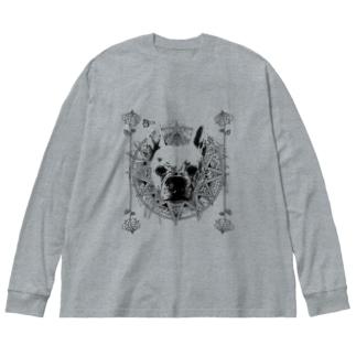 【BEN】French bulldog Big silhouette long sleeve T-shirts