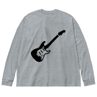musicshop BOBのギタァ - GUITAR Big silhouette long sleeve T-shirts