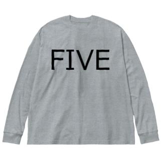 たまに見るアレ風FIVE Big silhouette long sleeve T-shirts