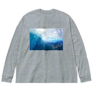 Barrel Big silhouette long sleeve T-shirts