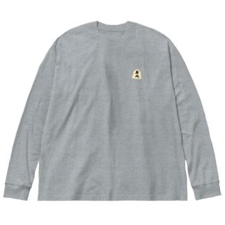 歩、と金 Big silhouette long sleeve T-shirts