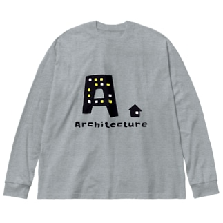 Architecture. Big silhouette long sleeve T-shirts