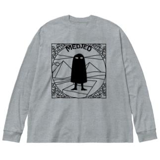 現場のメジェド Big silhouette long sleeve T-shirts