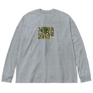 カワセミ親子かな?! Big silhouette long sleeve T-shirts