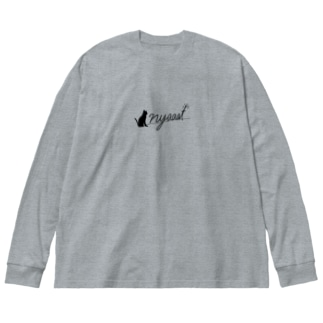 nyaaat公式ネコアイテム Big Silhouette Long Sleeve T-Shirt