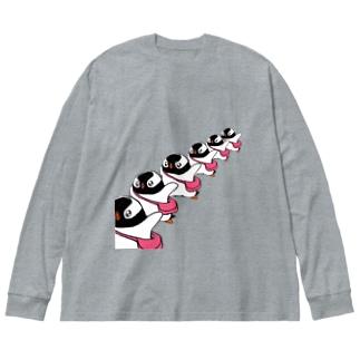 プピゴン「ドーン!」 Big Silhouette Long Sleeve T-Shirt