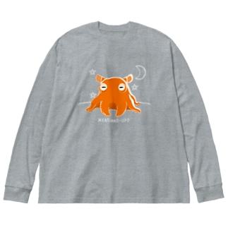CT145 メンダコUFO Big Silhouette Long Sleeve T-Shirt