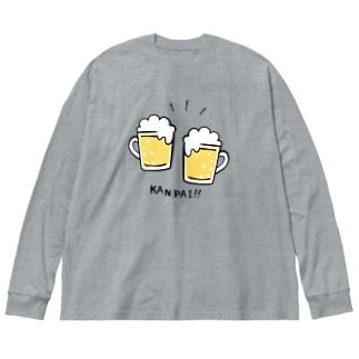 KANPAI!! Big silhouette long sleeve T-shirts