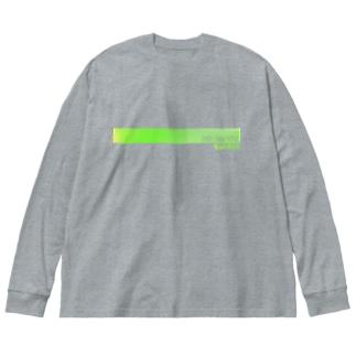 電脳チャイナパトロール Big silhouette long sleeve T-shirts