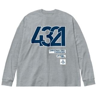 4321のシステム Big silhouette long sleeve T-shirts