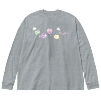 マカロン食べたい。 Big Silhouette Long Sleeve T-Shirt