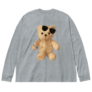 Teddy with Glasses Big silhouette long sleeve T-shirts