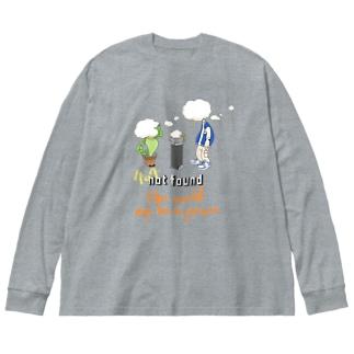 world peace Big silhouette long sleeve T-shirts