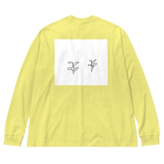 おそらく植物 Big silhouette long sleeve T-shirts