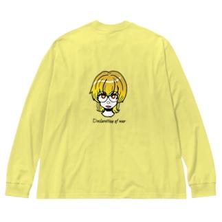 宣戦布告ちゃん Big silhouette long sleeve T-shirts