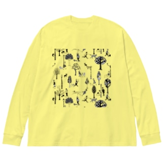The Doggone Dog Is Mine パターン Big silhouette long sleeve T-shirts