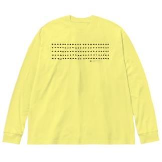 アマミセマダラマグソコガネ君 Big silhouette long sleeve T-shirts