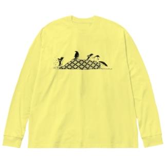 ペンギンズ Big silhouette long sleeve T-shirts