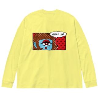 Makiko KodamaのHEEEEELL NO. Big silhouette long sleeve T-shirts