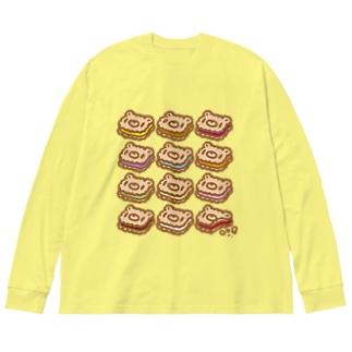【各20点限定】いたずらぐまのグル〜ミ〜(15/12cookies)  Big silhouette long sleeve T-shirts