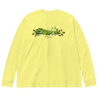 クロアゲハイモムシ Big silhouette long sleeve T-shirts
