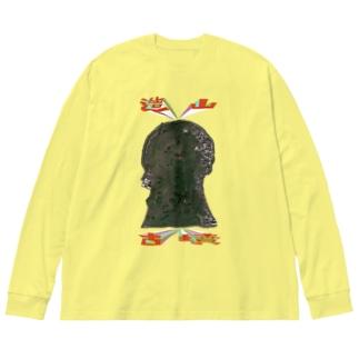 造山古墳 Big silhouette long sleeve T-shirts
