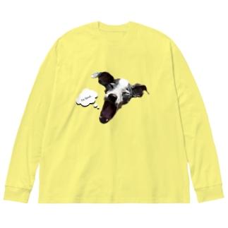 日本テリア Big silhouette long sleeve T-shirts