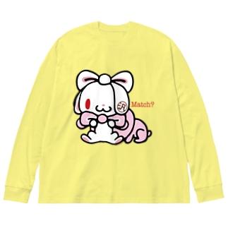 【各20点限定】汎用うさぎ(#2) Big silhouette long sleeve T-shirts