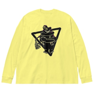 おはぎ色の子―シンプル Big silhouette long sleeve T-shirts