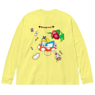 アリス/ドリームワールド Big silhouette long sleeve T-shirts