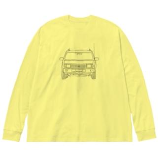 どんどん進むラシーン Big silhouette long sleeve T-shirts