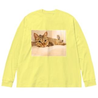 こちょら① Big silhouette long sleeve T-shirts