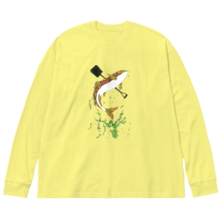 球磨川 Big silhouette long sleeve T-shirts