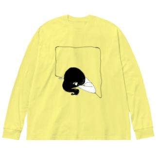 深音 Big silhouette long sleeve T-shirts