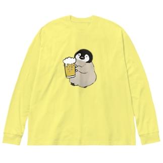 酔っペン(全面ver) Big silhouette long sleeve T-shirts