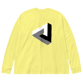 ペンローズの三角形-201025 Big silhouette long sleeve T-shirts